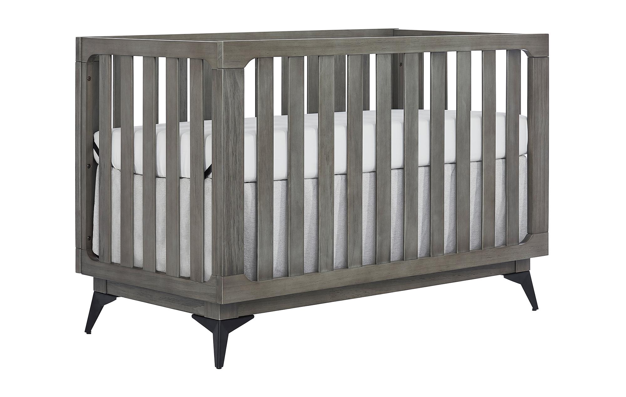 770BR-WGREY Ultra Modern II Convertible Crib