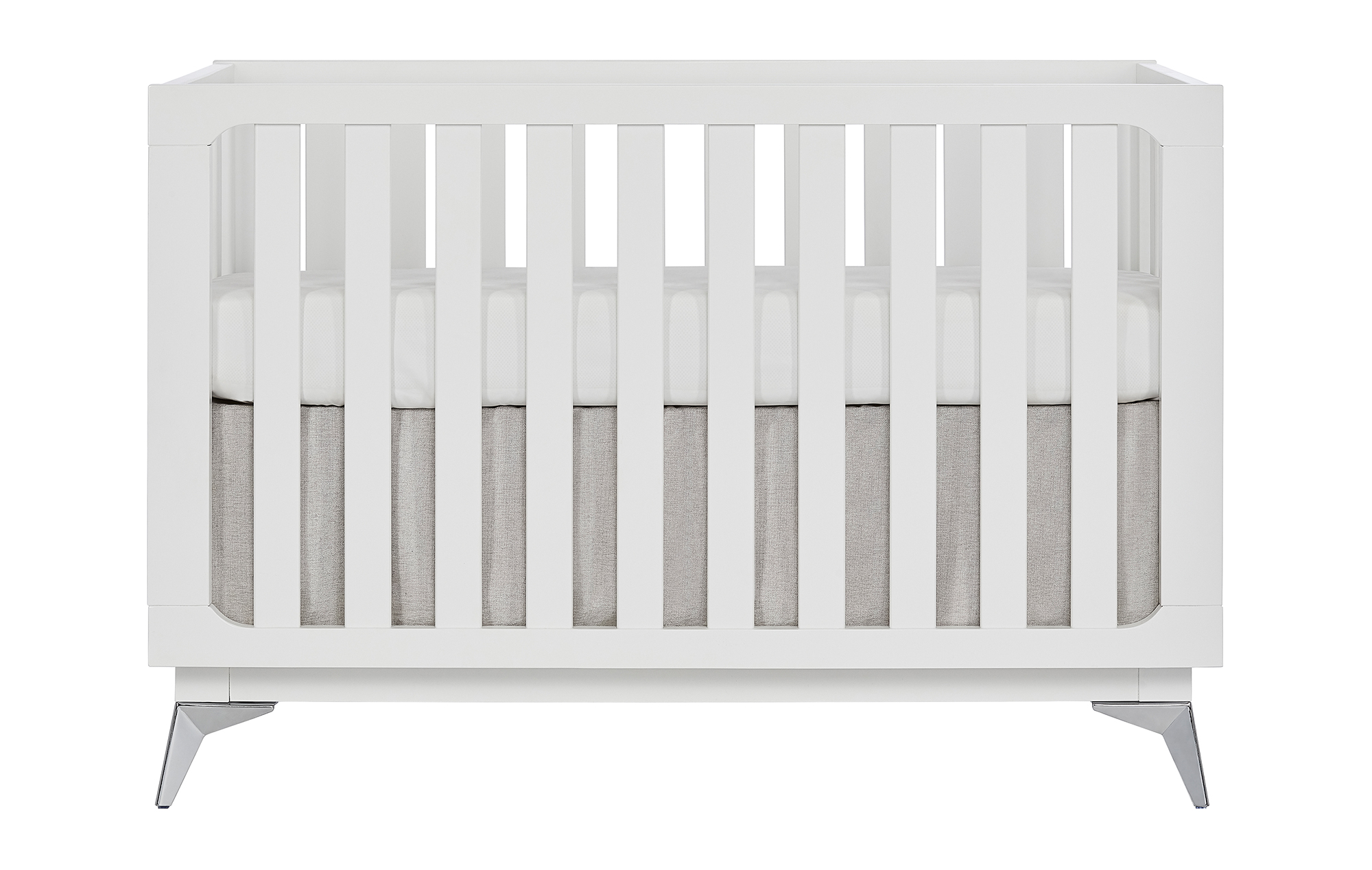 770-W Ultra Modern Convertible Crib Front