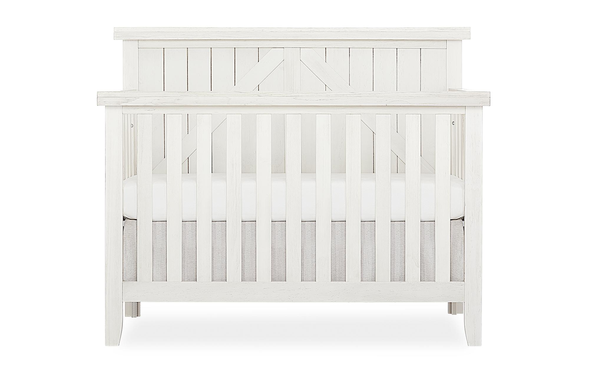 771BR_WWHITE Convertible Crib Front
