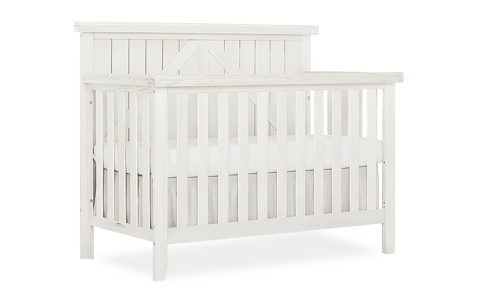 771BR_WWHITE Convertible Crib Side