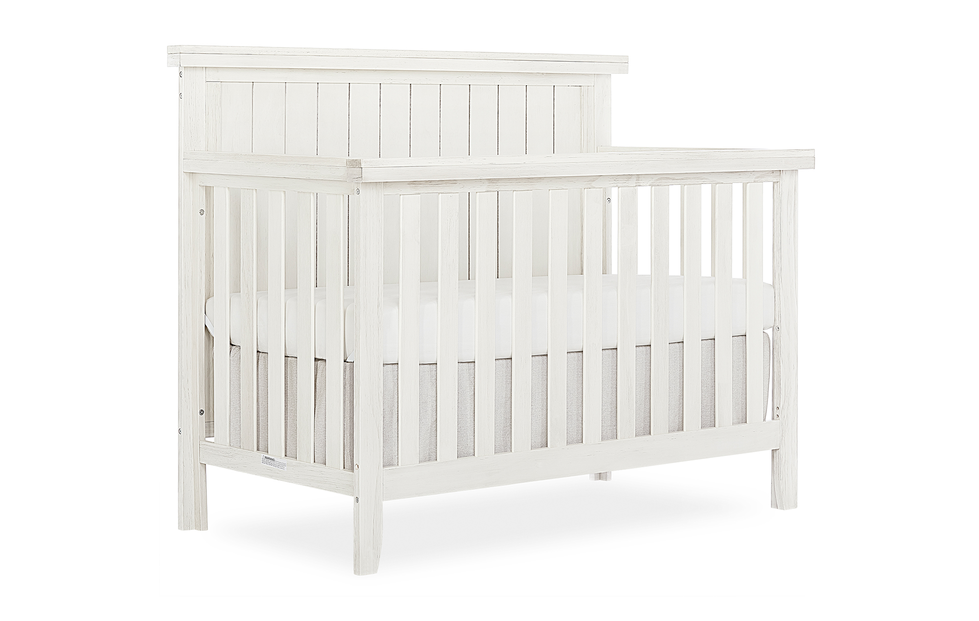 772BR_WWHITE Convertible Crib Side