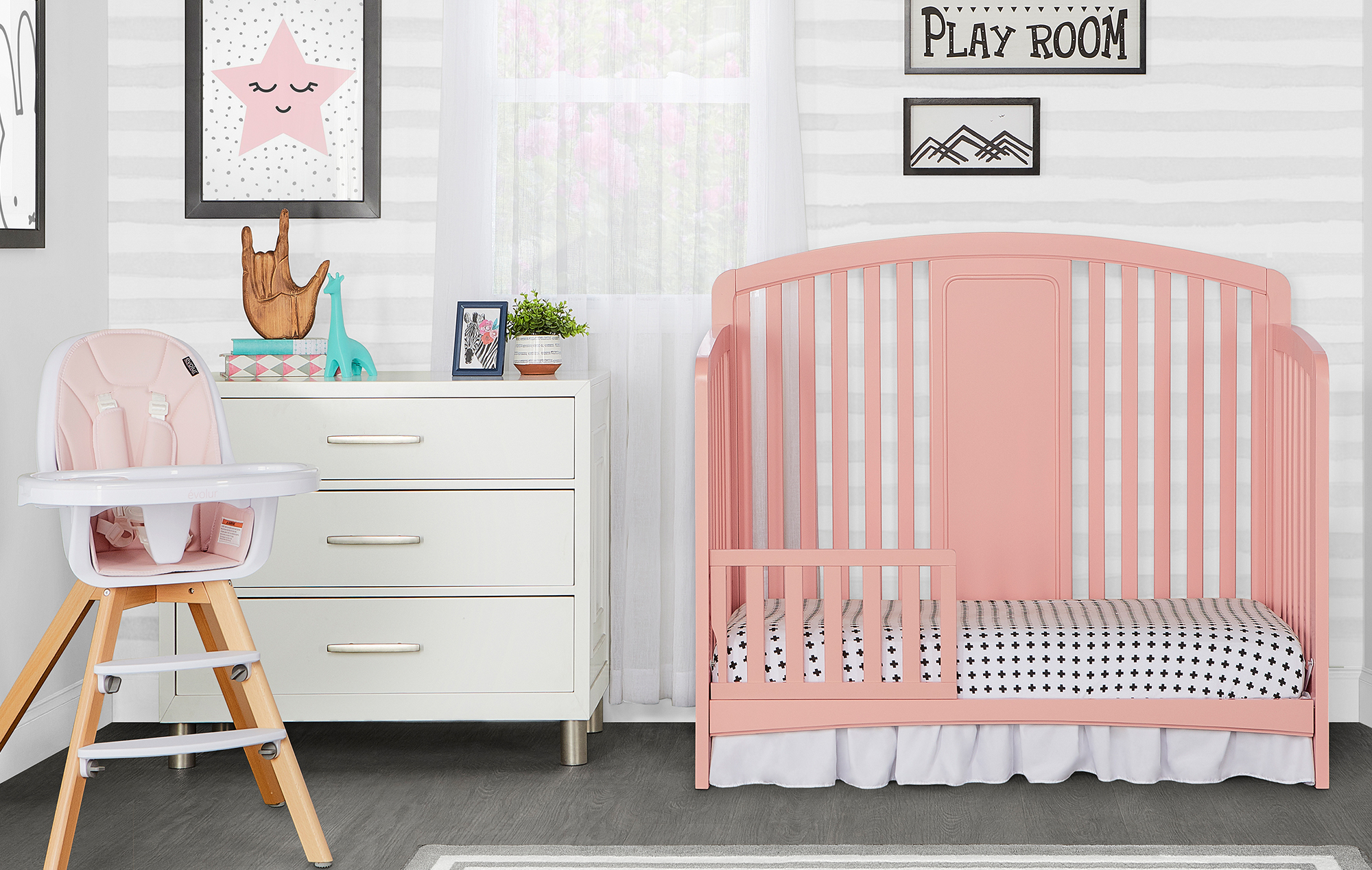 775-DPINK Arc Toddler Bed Room Shot