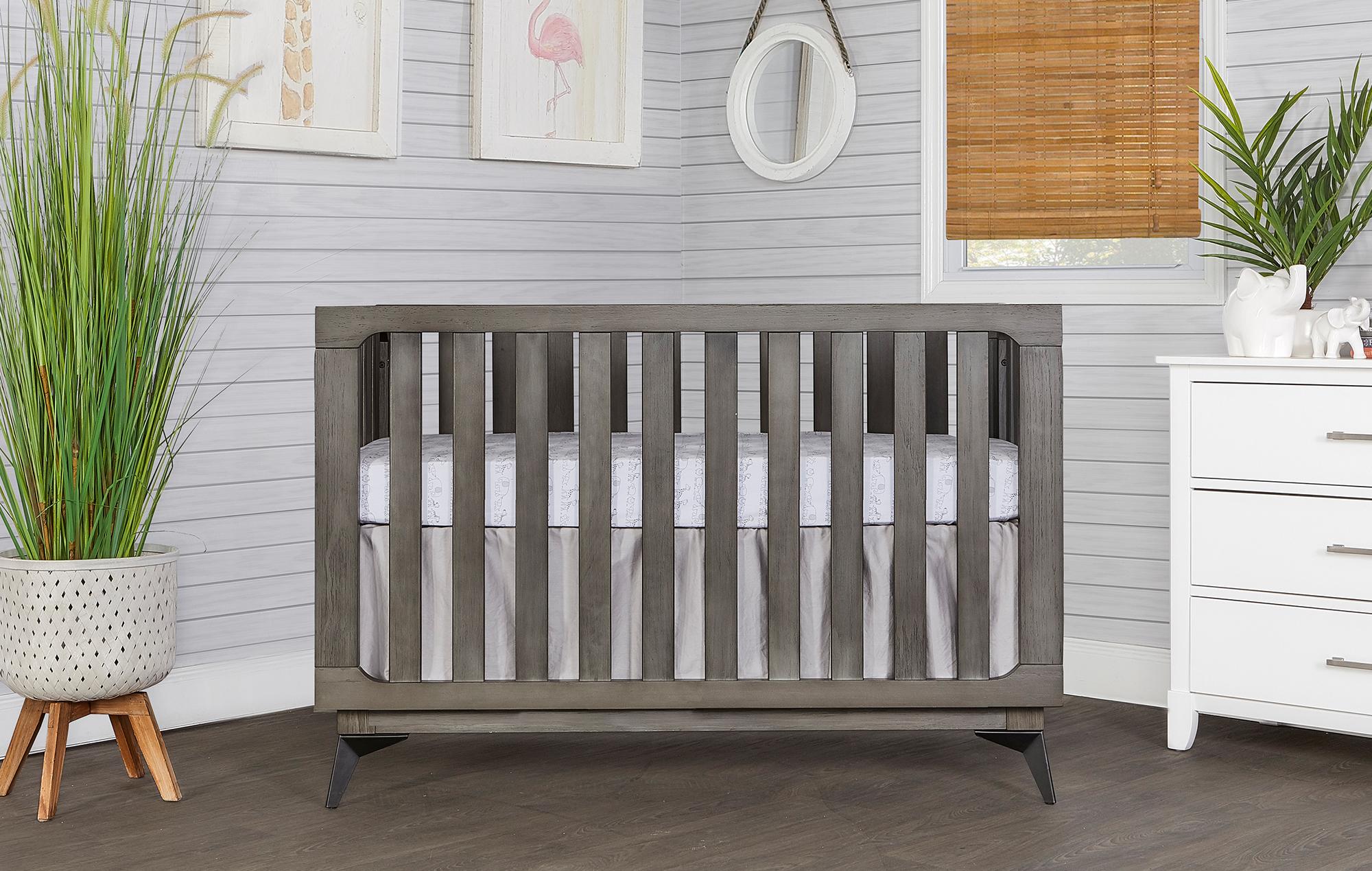 770BR-WGREY Ultra Modern II Crib Front