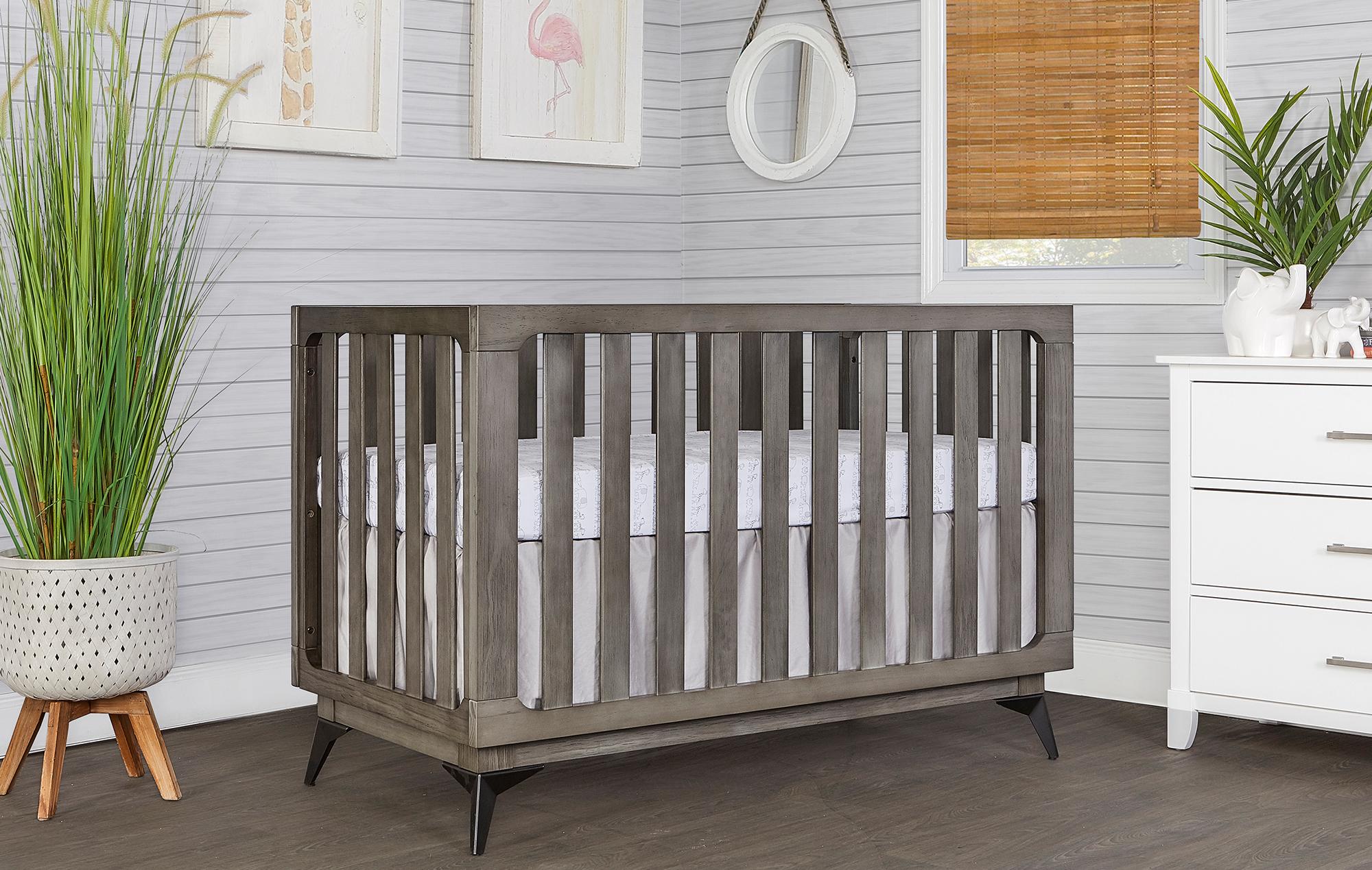 770BR-WGREY Ultra Modern II Crib Side