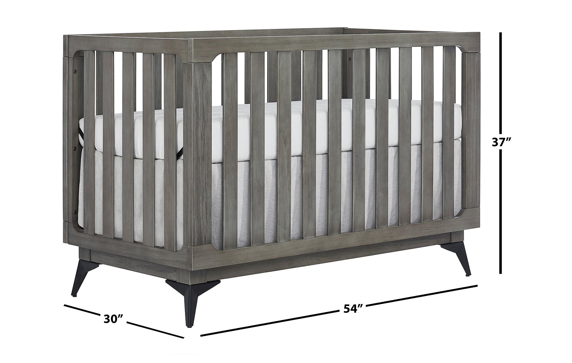 770BR-WGREY Ultra Modern II Crib Dimensions