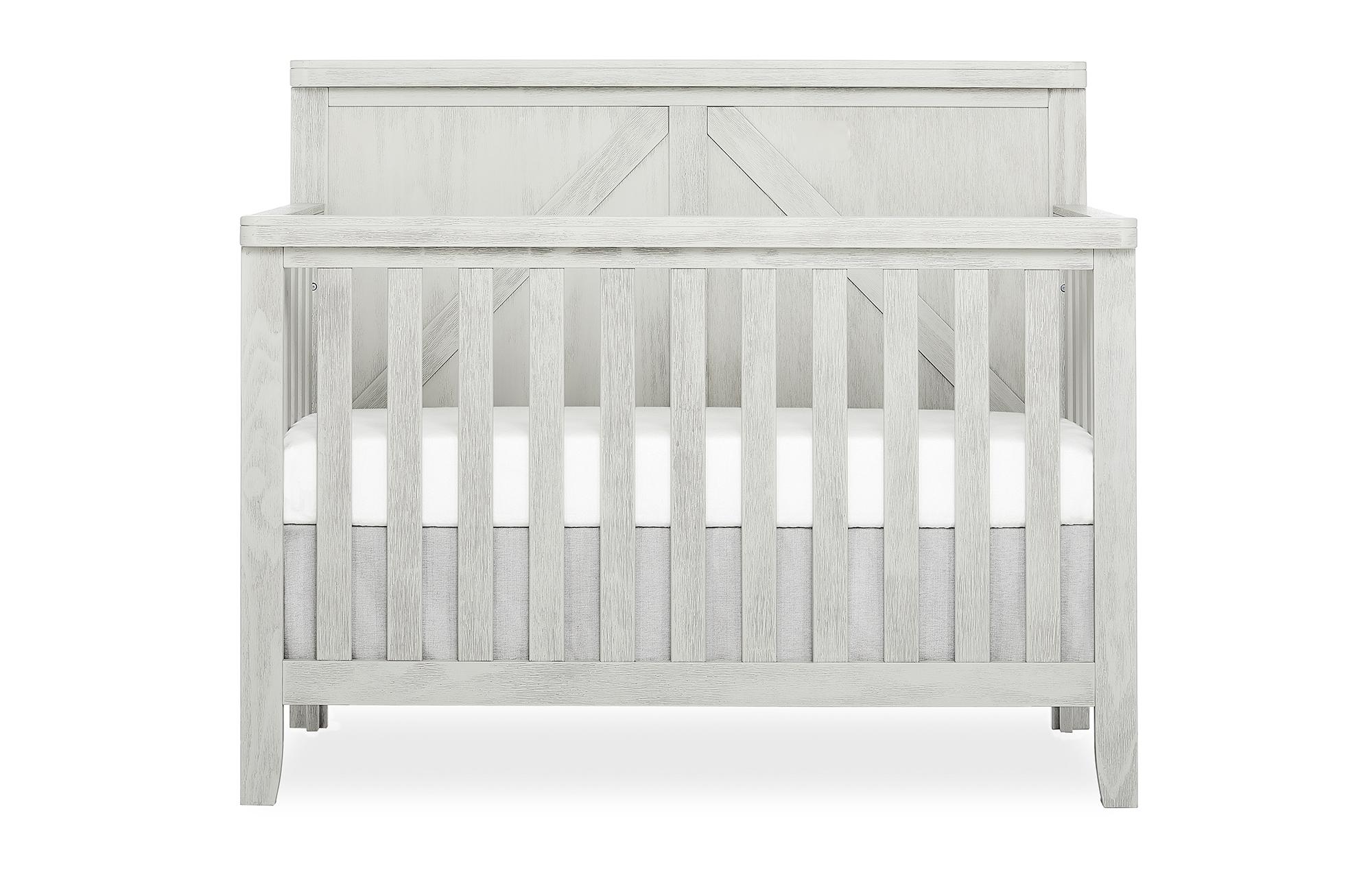 771-BWHITE Redwood Crib Front