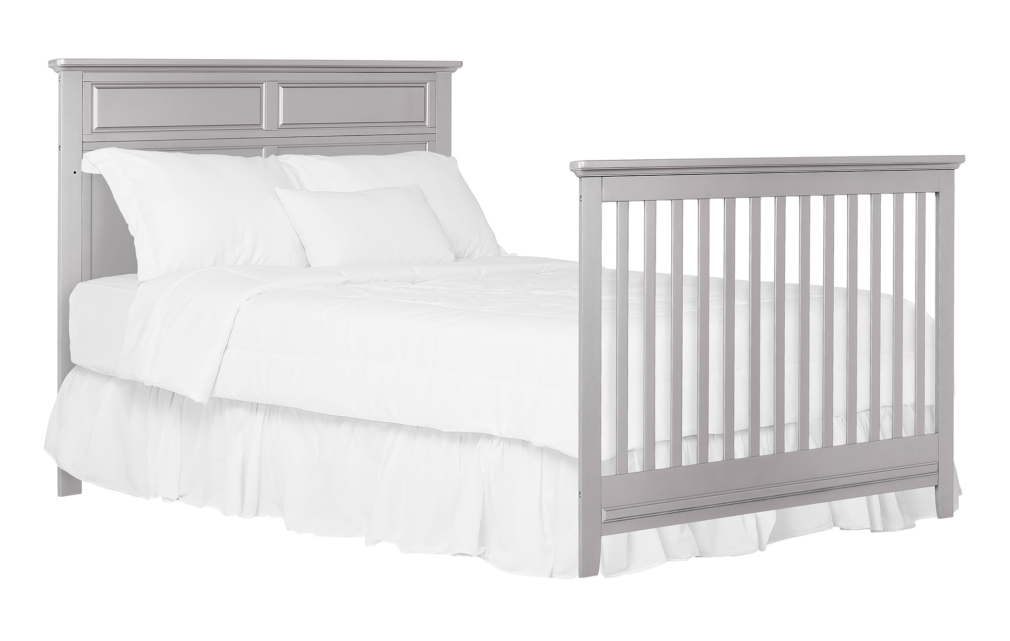774-MGREY Fairview Full Size Bed Headfoot