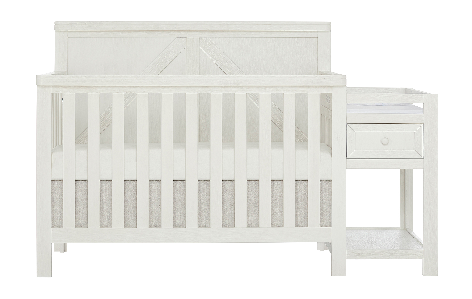 773-WWHITE Meadowland Crib