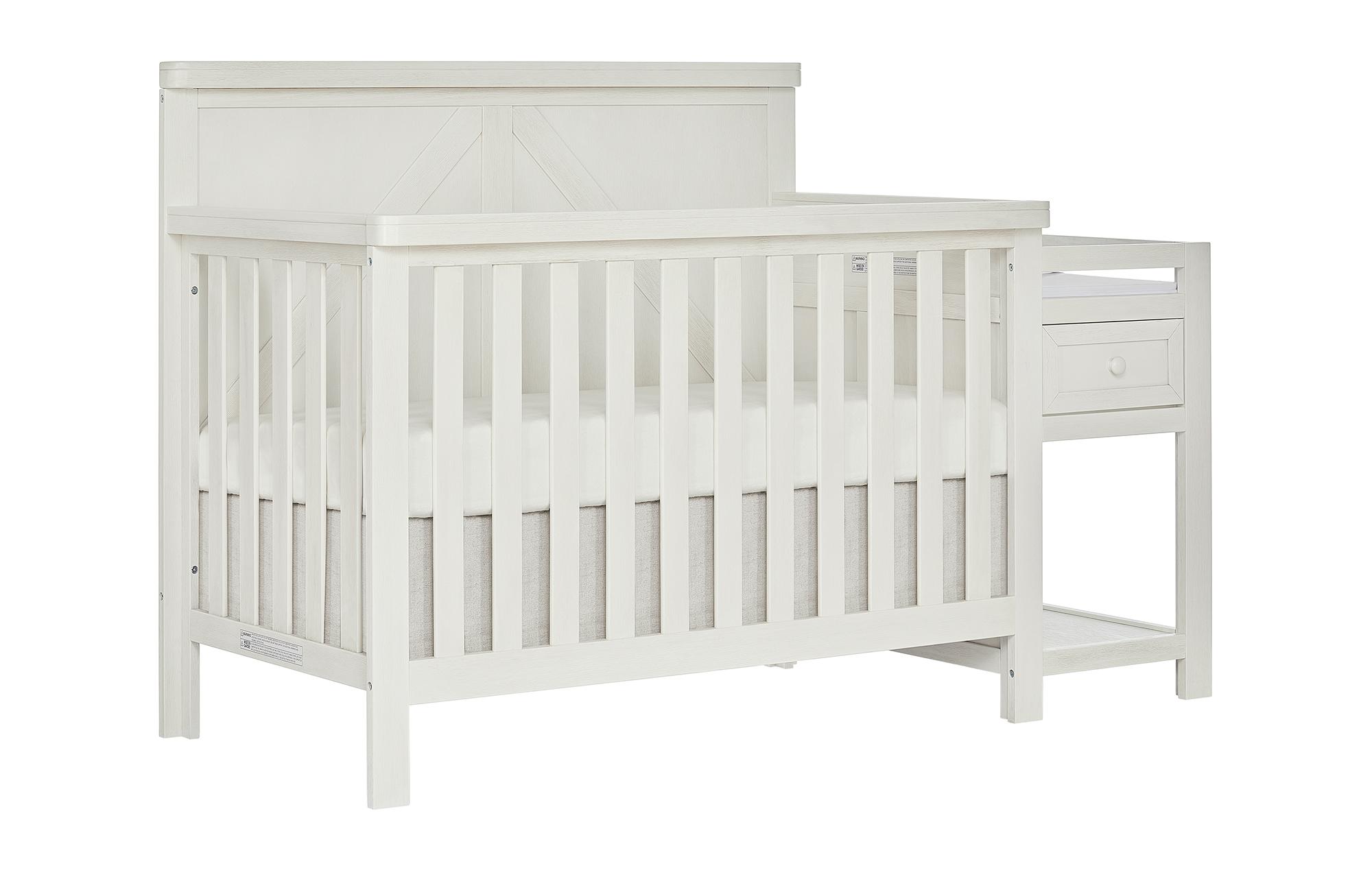 773-WWHITE Meadowland Crib Side