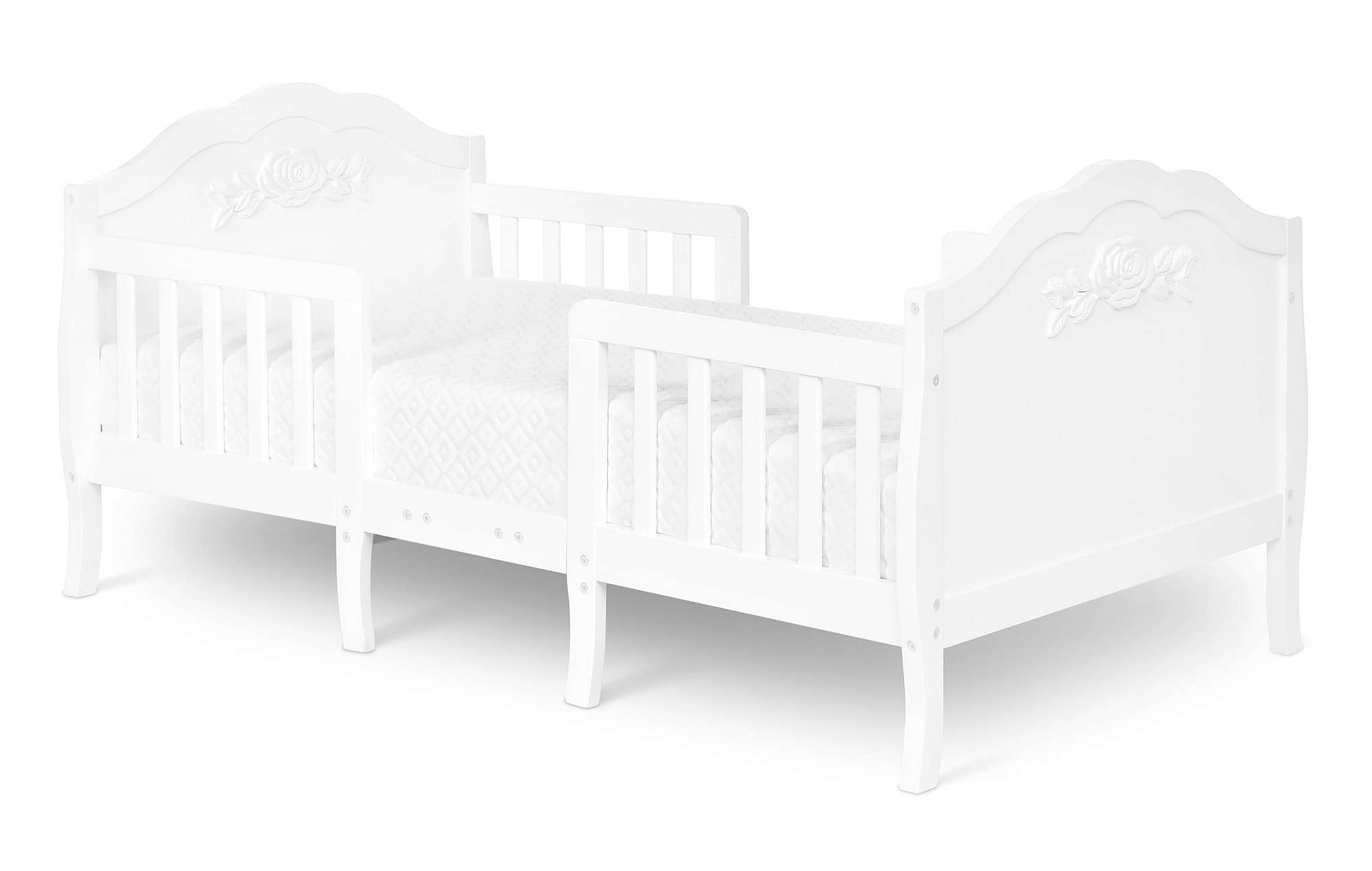640_WHT Rose Toddler Bed Silo 1