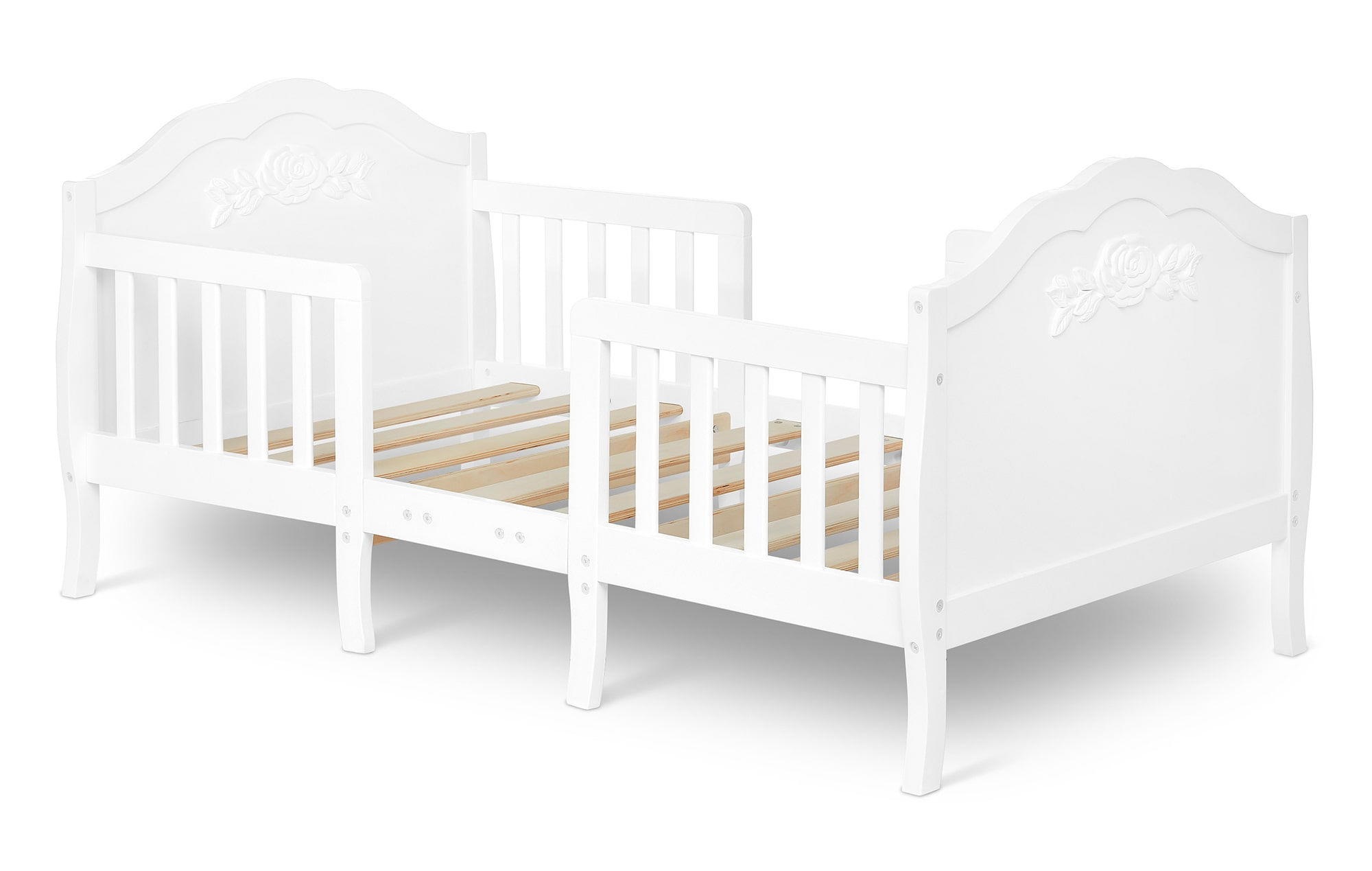 640_WHT Rose Toddler Bed Silo 2