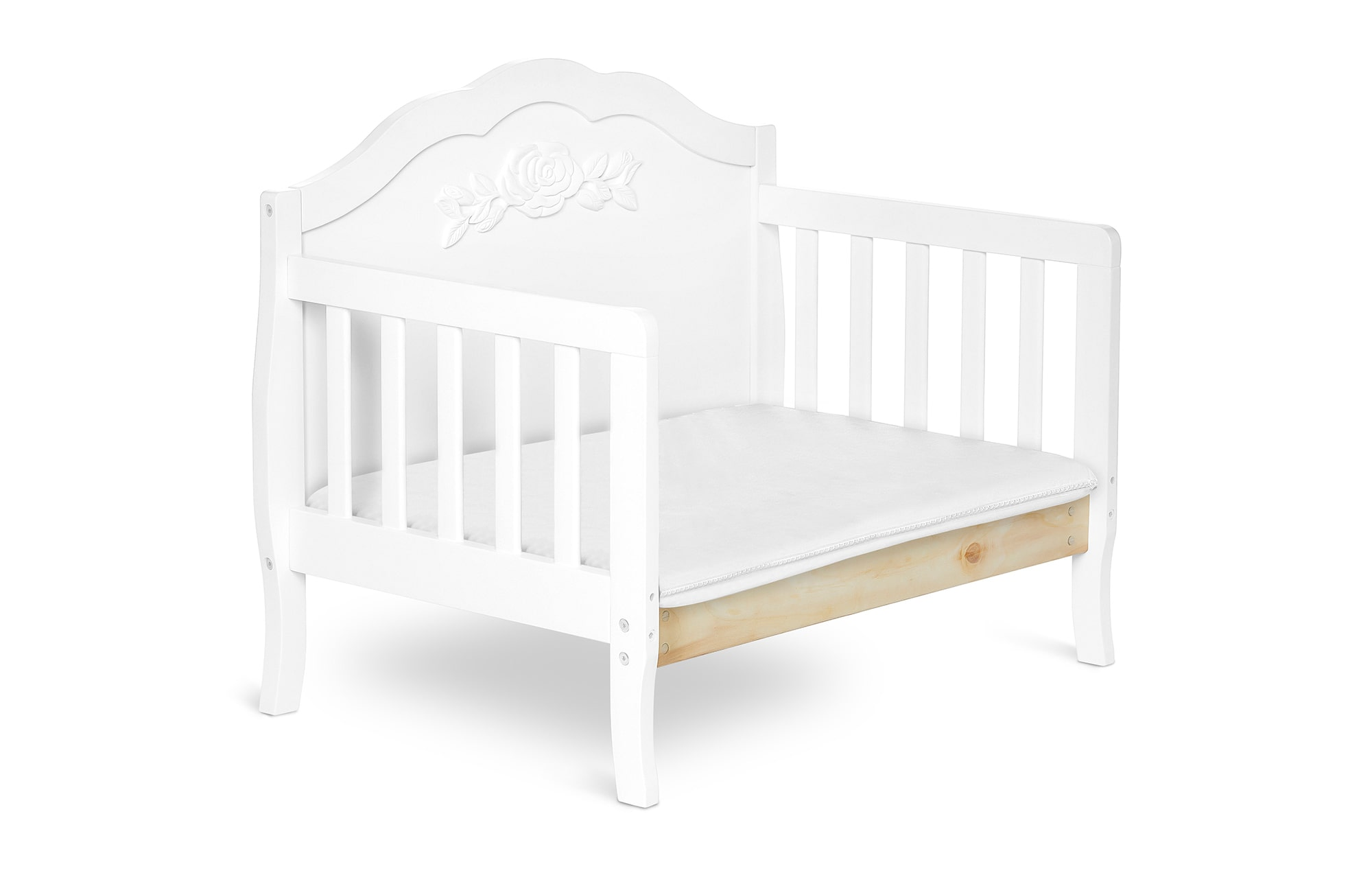 640_WHT Rose Toddler Bed Silo 6