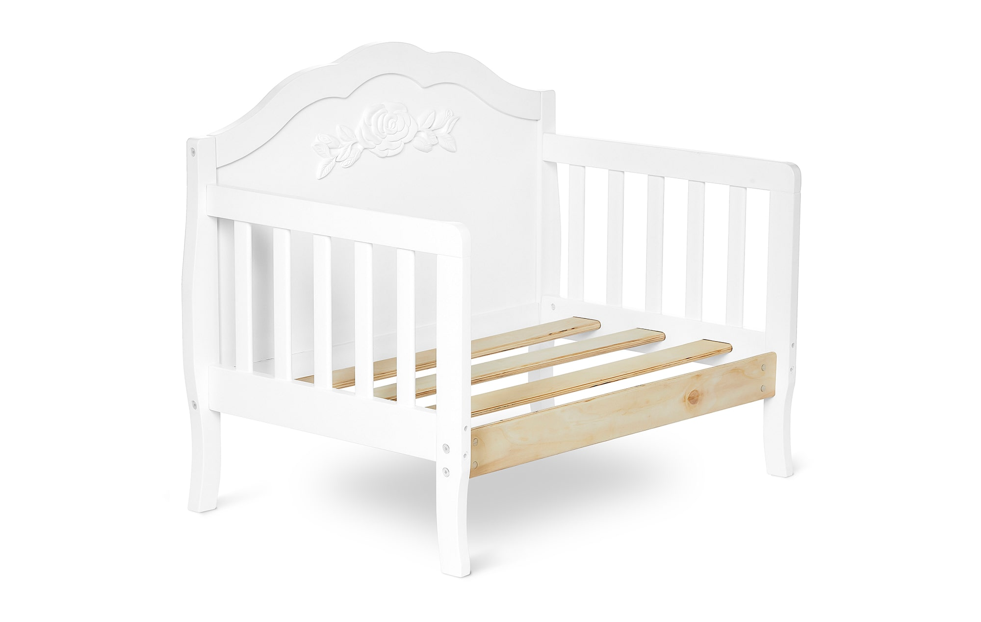 640_WHT Rose Toddler Bed Silo 7