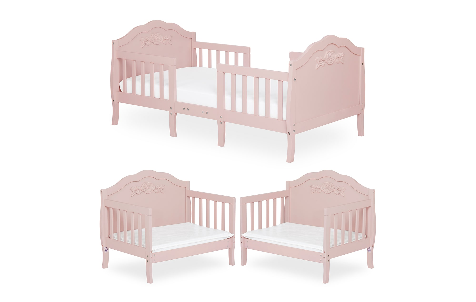 640_BLUSH Rose Toddler Bed Collage 1
