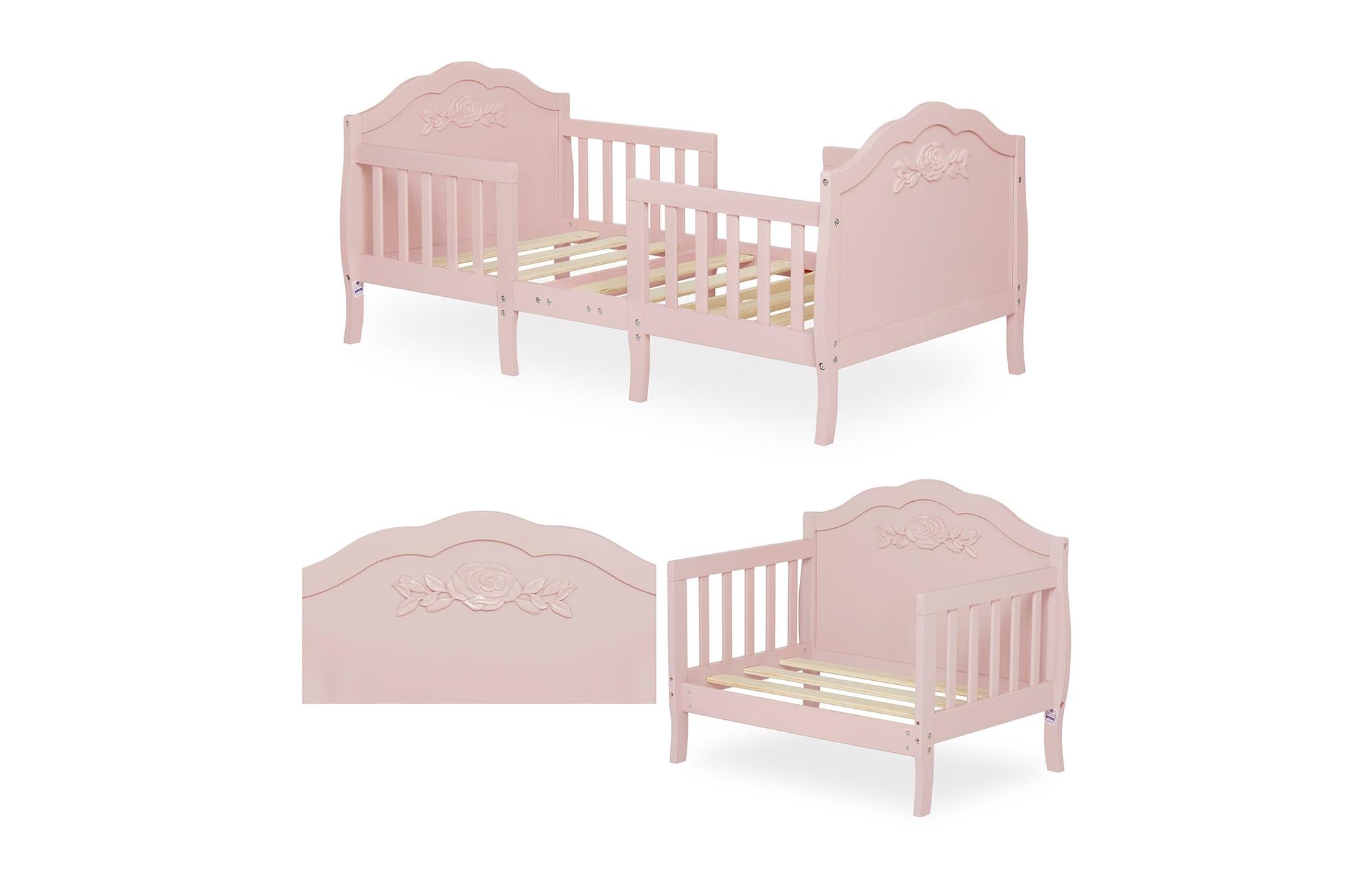 640_BLUSH Rose Toddler Bed Collage 2