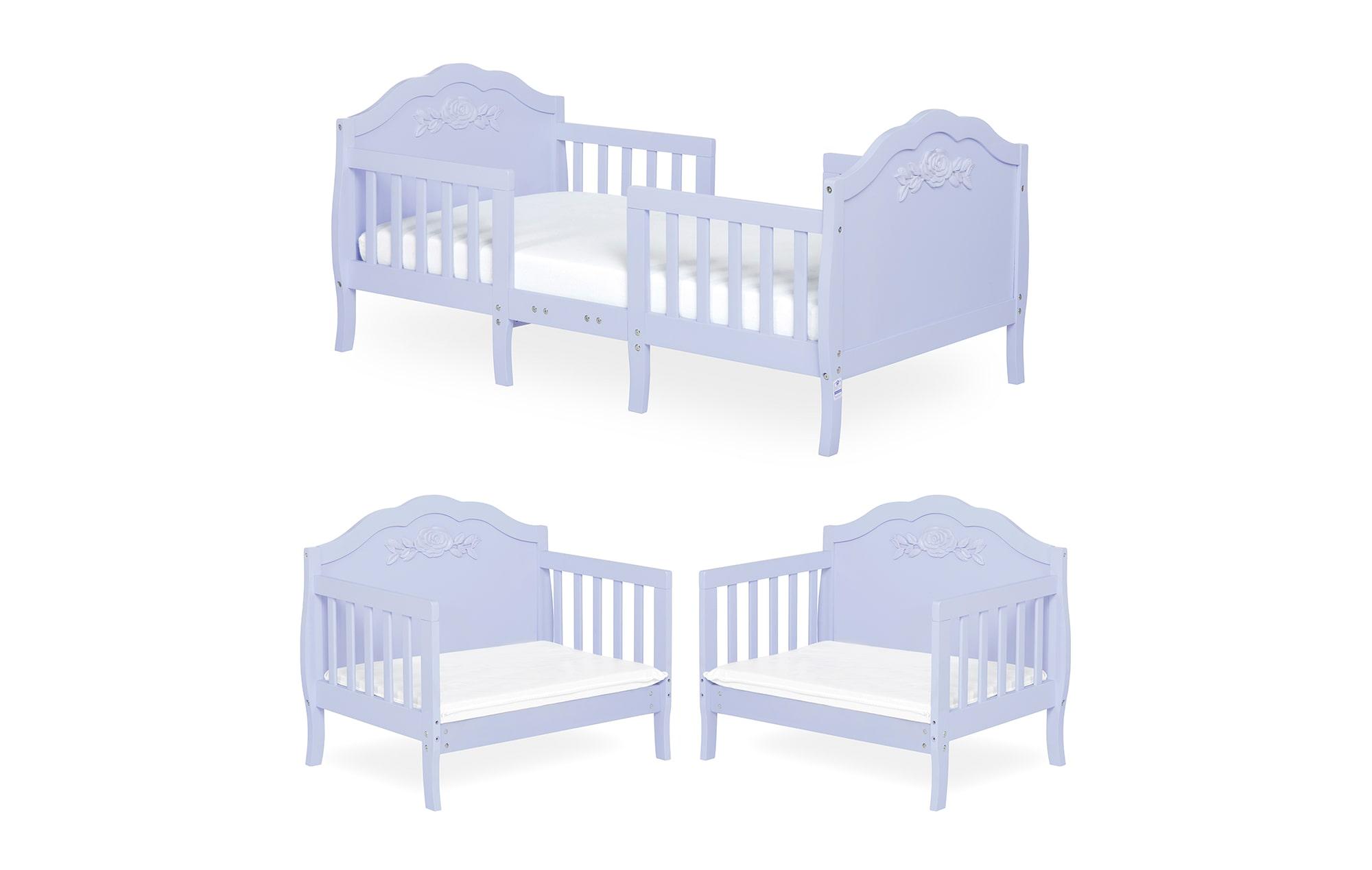 640_LAVD Rose Toddler Bed Collage 1