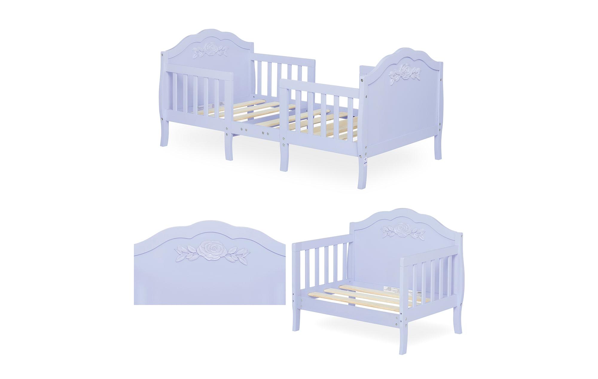 640_LAVD Rose Toddler Bed Collage 2