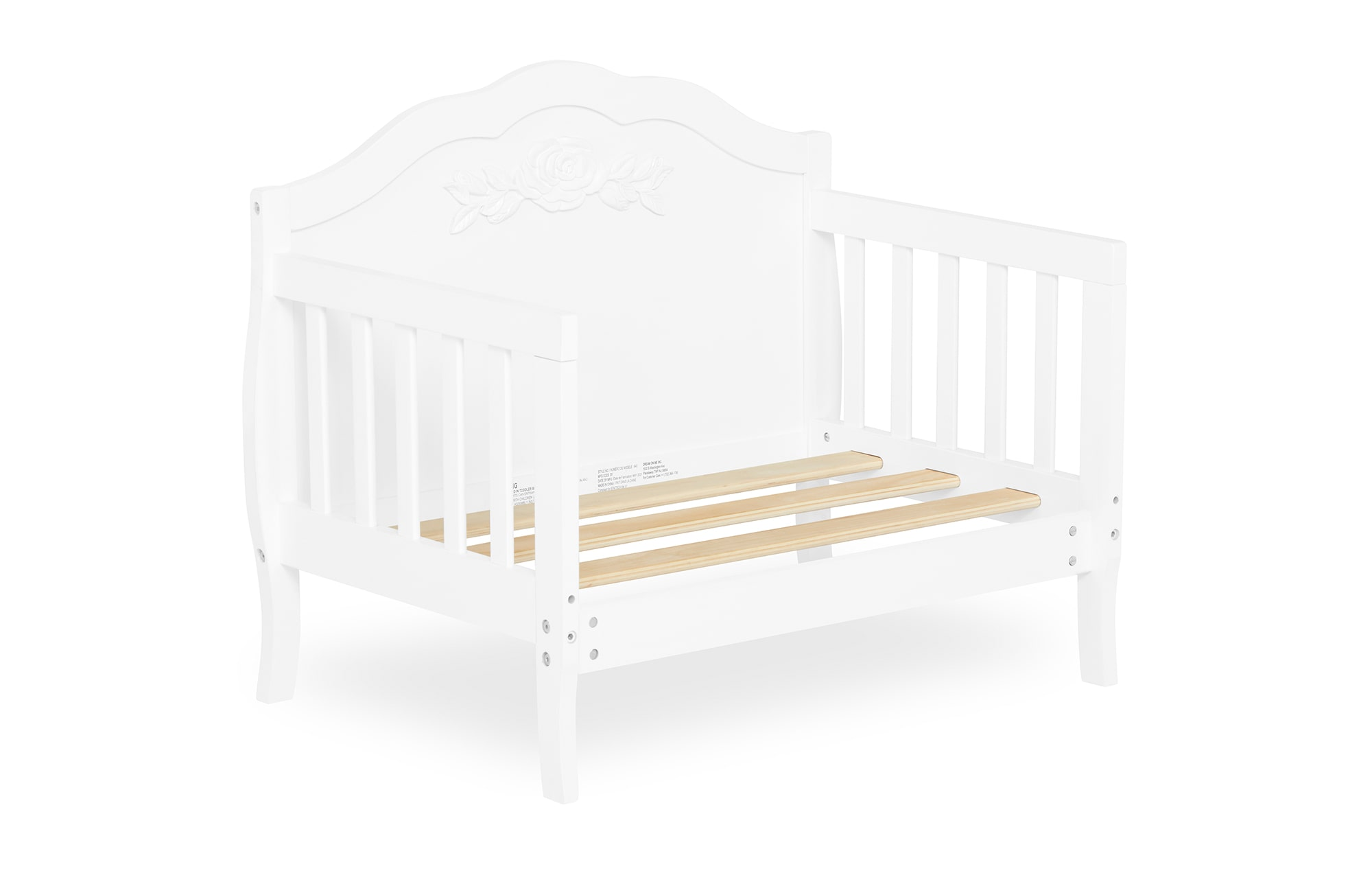 640_WHT Rose Toddler Bed Silo 9